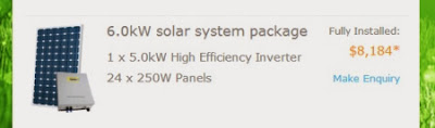6kW solar panel system for $8184