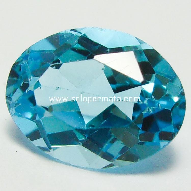 Batu Permata Blue Topaz - 27A07