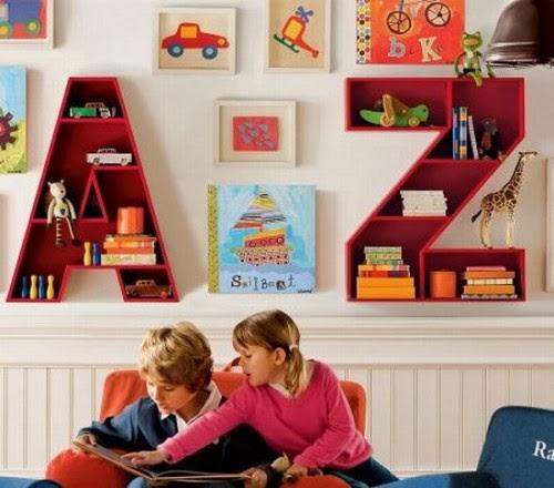 çocuk odası raf sistemi