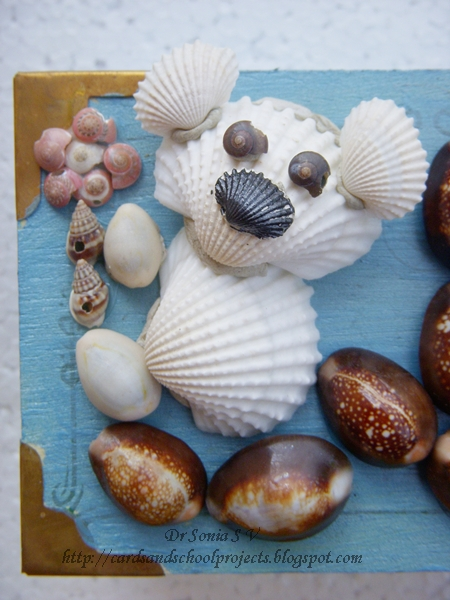 Cards crafts kids projects shell art and craft altered for Shell craft ideas
