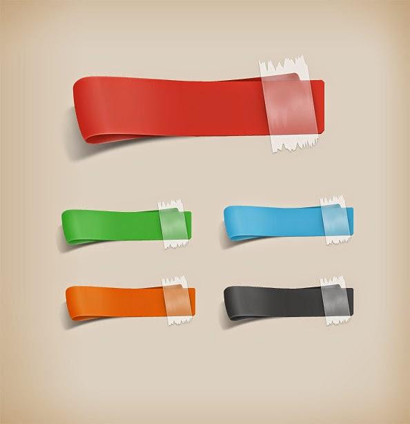 4 Free Ribbon PSD Templates