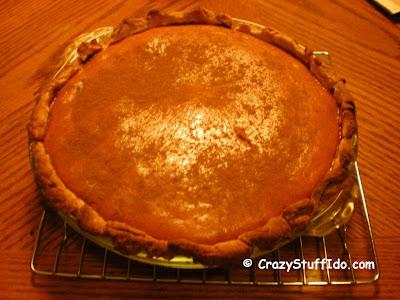 Fresh pumpkin pie... no power tools required...