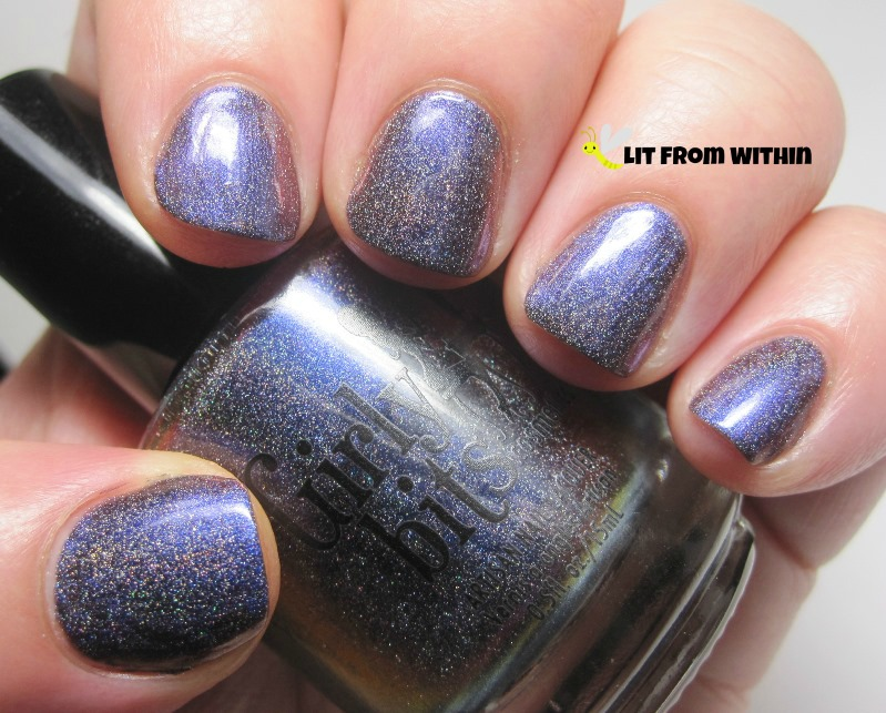Girly Bits Belly Jeans, a blue-purple holo multichrome