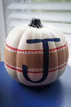 Monogrammed Painted Pumpkin