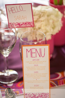 Wedding menu and place card by The Stylish Scribe