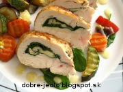 Kuracie prsia plnené špenátom a so zeleninou ratatouille - recept