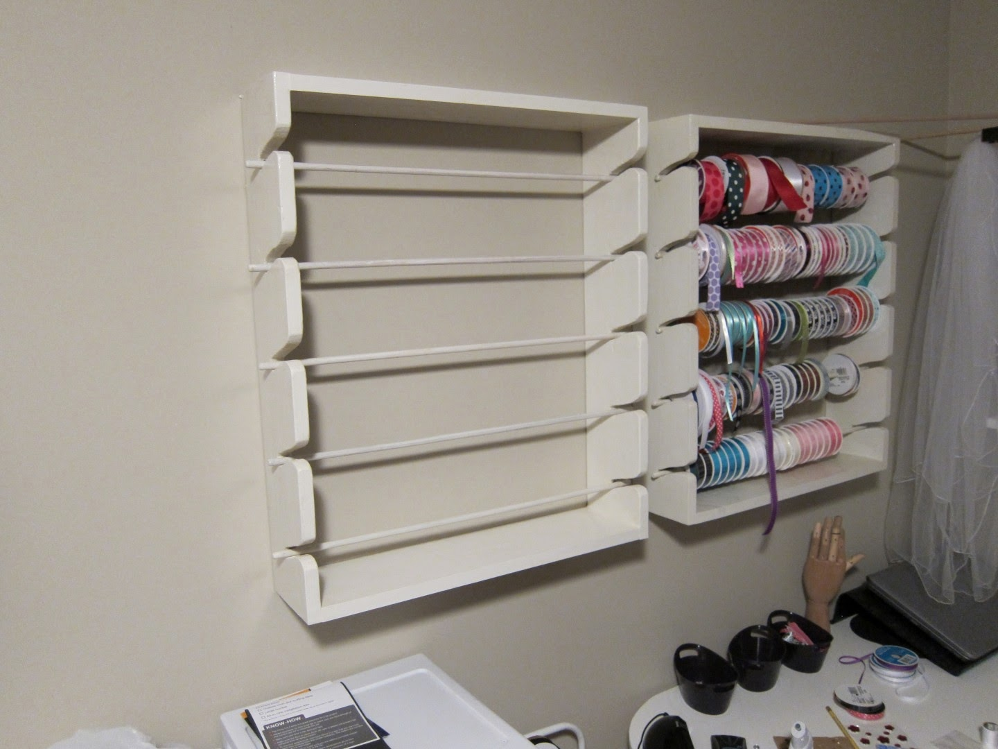 second wood ribbon rack