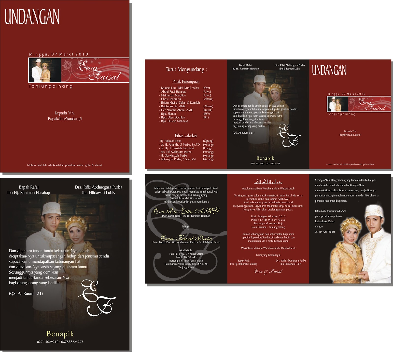 .: koleksi kartu undangan