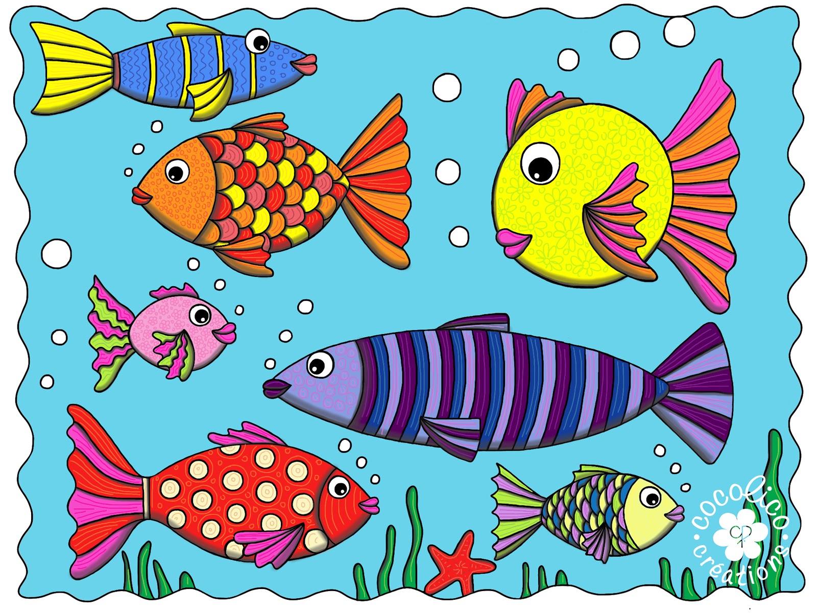 Cocolico creations illustrations - Poisson en dessin ...
