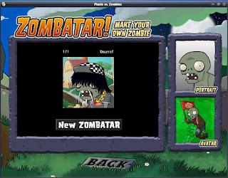 PLANT VS ZOMBIE ZOMBATAR FOR PC
