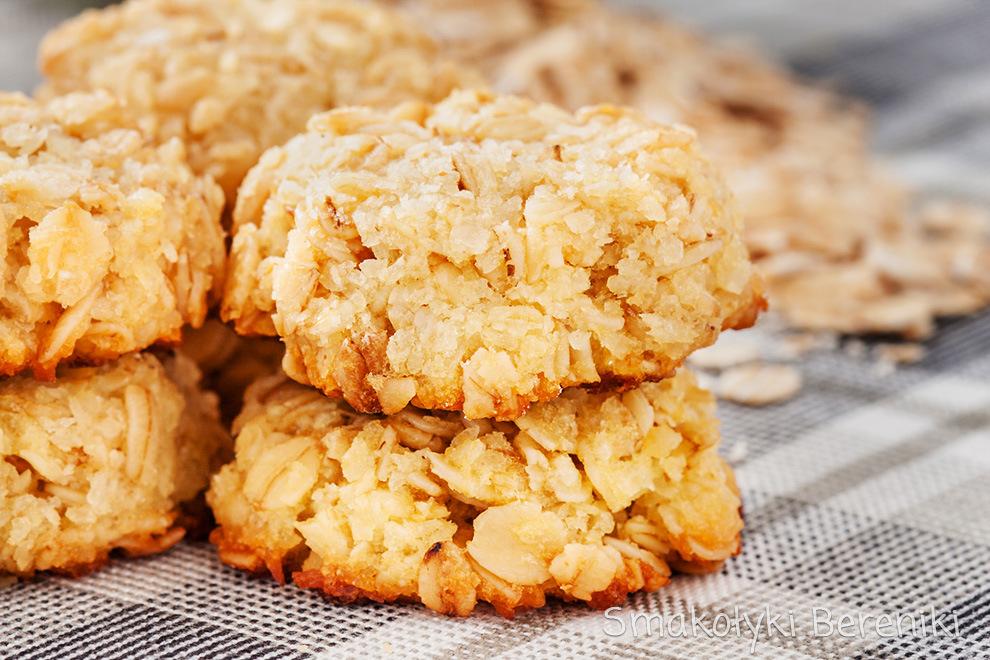 Kokosowe ciasteczka owsiane