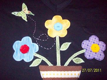 Vaso de flores patchcolagem