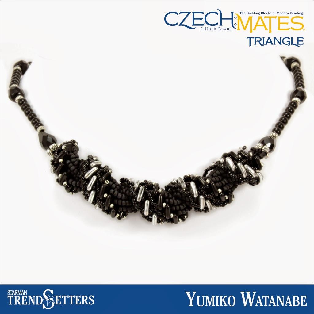 CzechMates Triangle necklace by Starman TrendSetter Yumiko Watanabe