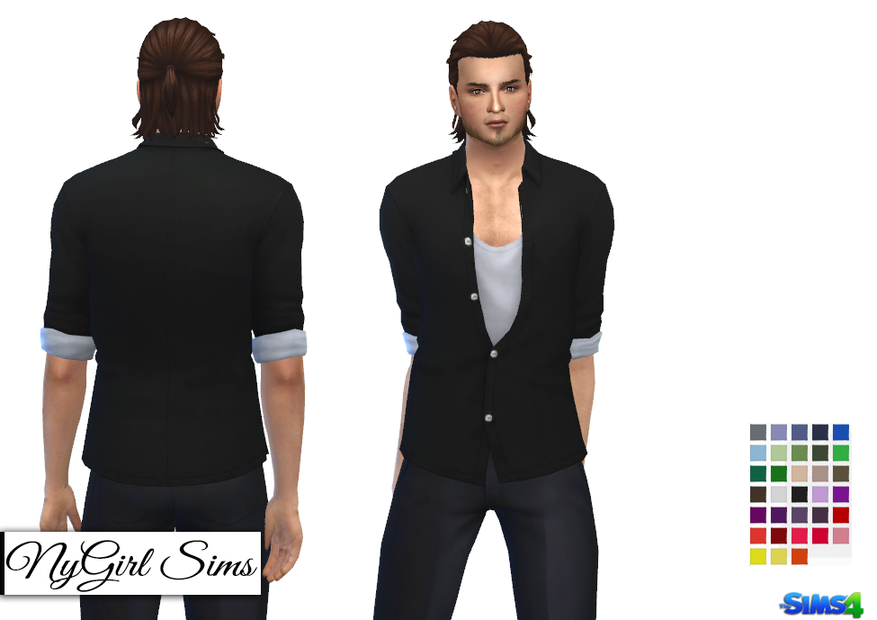 Movie Hangout Unbuttoned Shirt Edit for Base Game