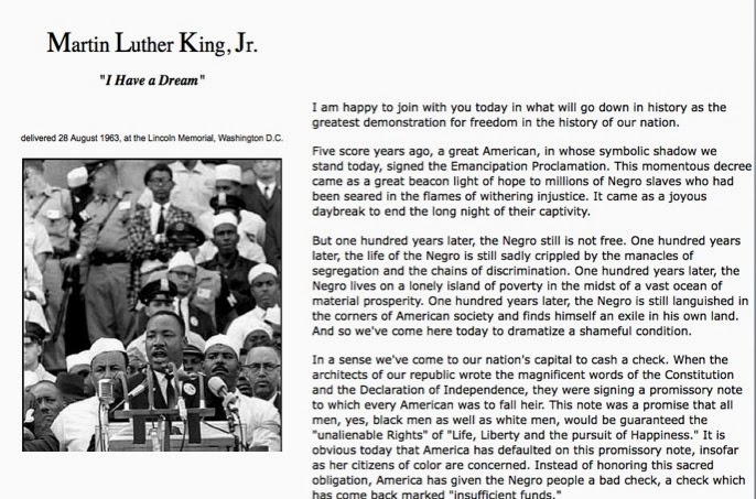 Martin luther king speech analysis essay