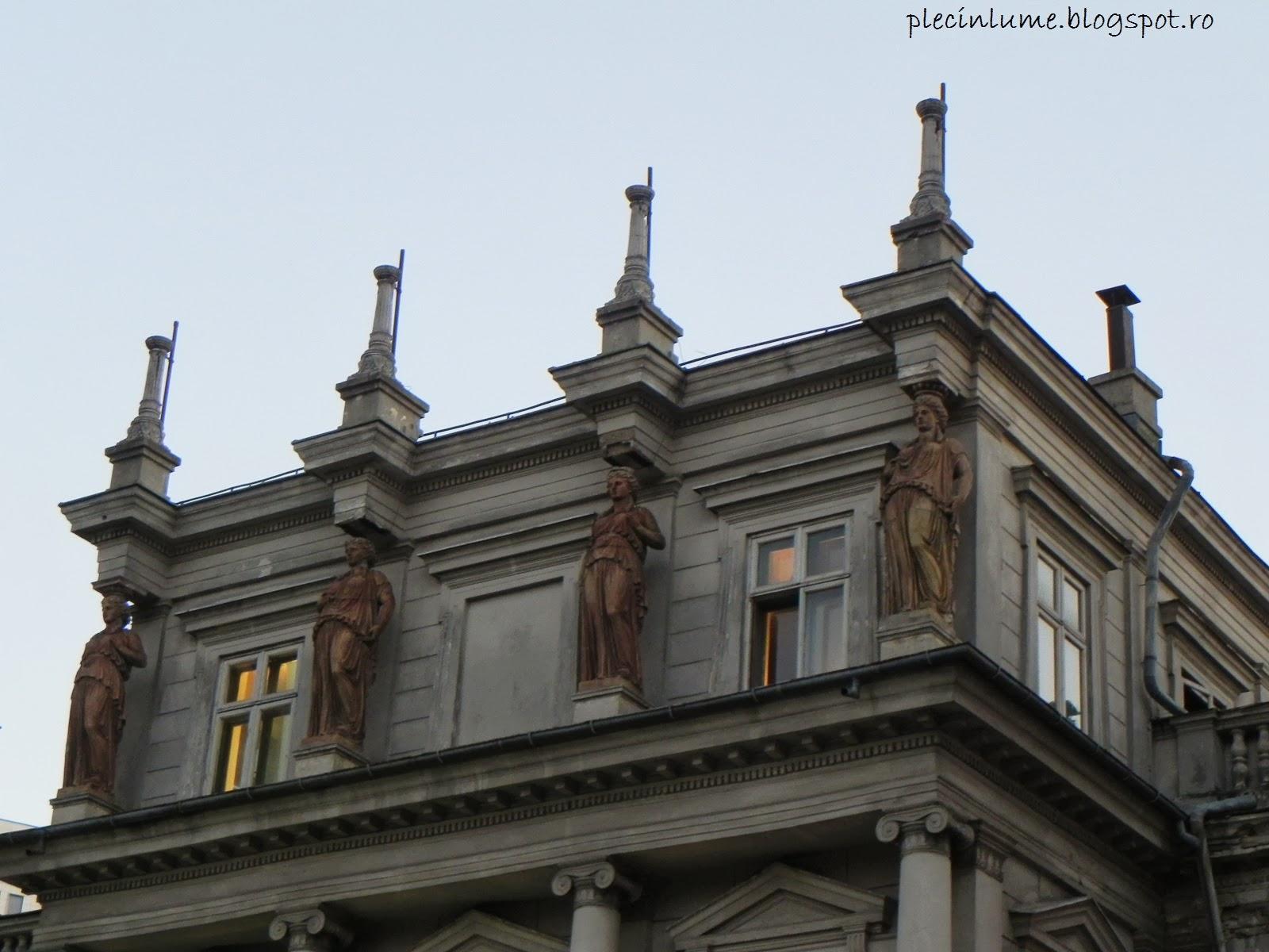 Cariatide pe Palatul Stirbei