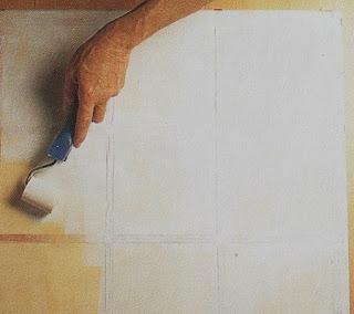 Mesa Auxiliar con Efecto de Ceramica o Azulejos, Recuperacion y Decoracion Facil de Muebles