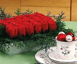 Centros de Mesa de Navidad Rojos, parte 3