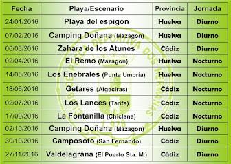 Concursos temporada 2016