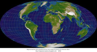 4. Representacion de la superficie de la Tierra segun la Proyección Hammer-Aitov, 4096 x 2048 px