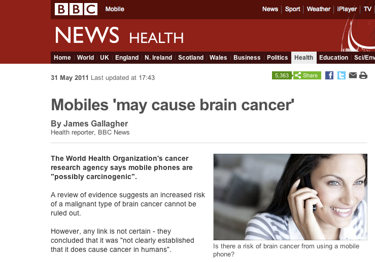 Cell phones and cancer research paper