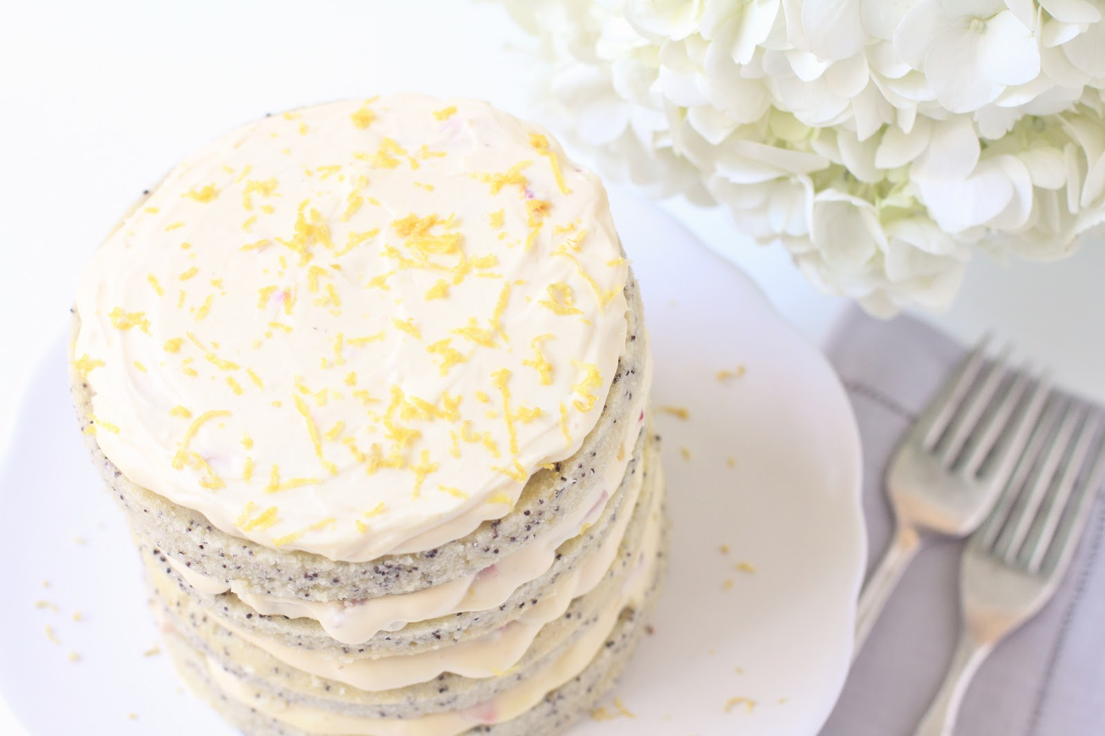 Lemon Poppy Seed Cake (Adapted from Extraordinary Cakes )
