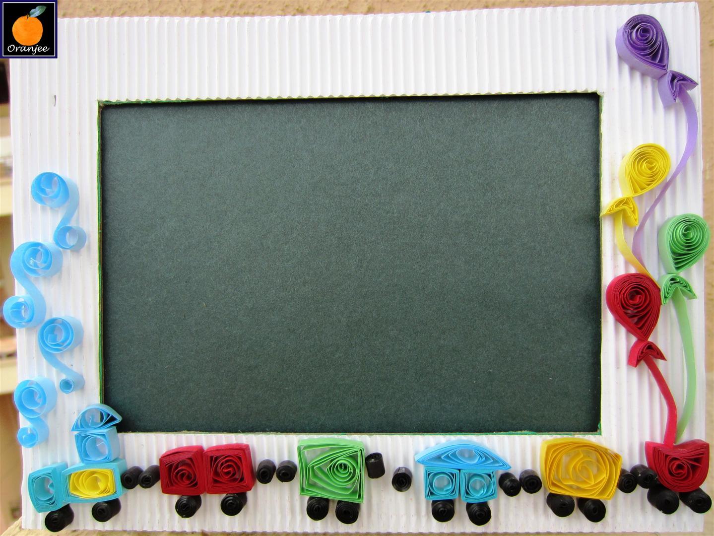 My craft work: Train frame