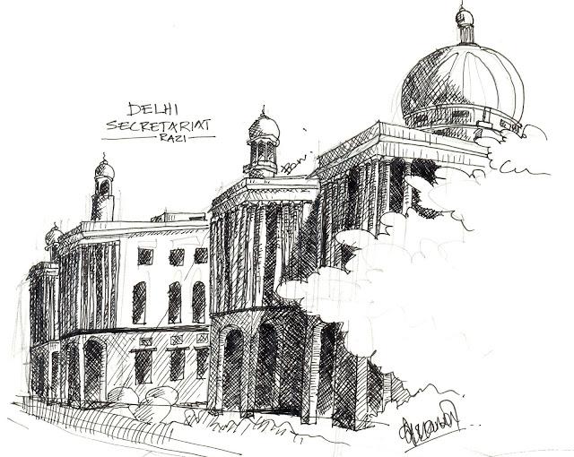 Delhi Secretariate Sketch