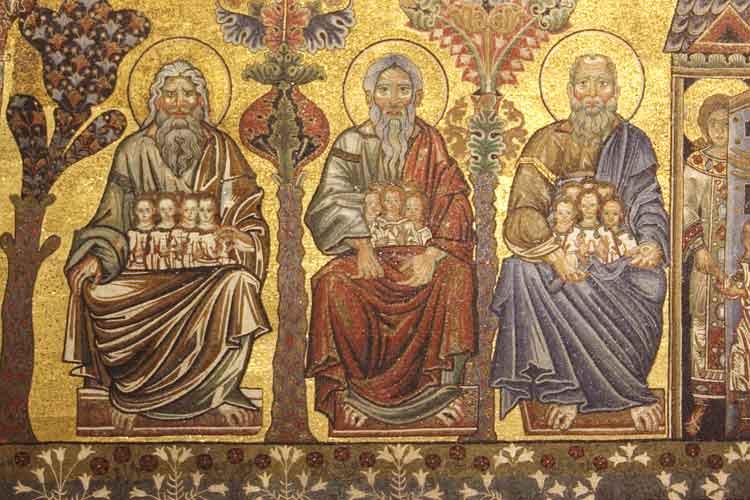 Abraham, Isaac, Jacob dans images sacrée abramo_battistero