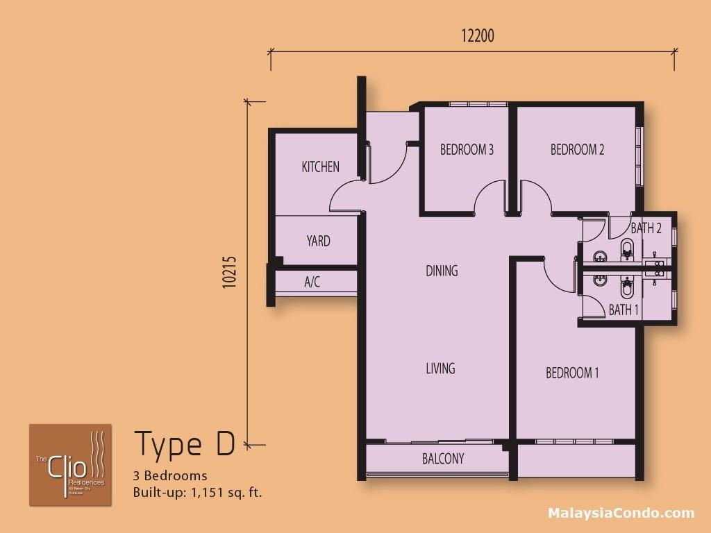 the clio residence ioi resort city ot. Black Bedroom Furniture Sets. Home Design Ideas