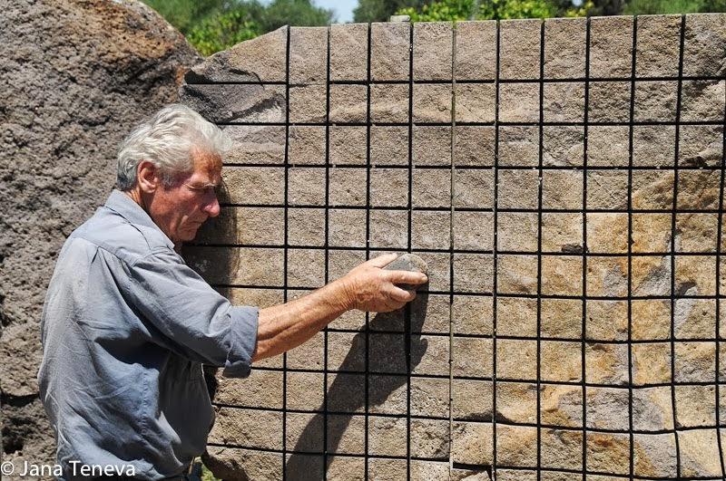 Jana around the world stone sound sculptures in open