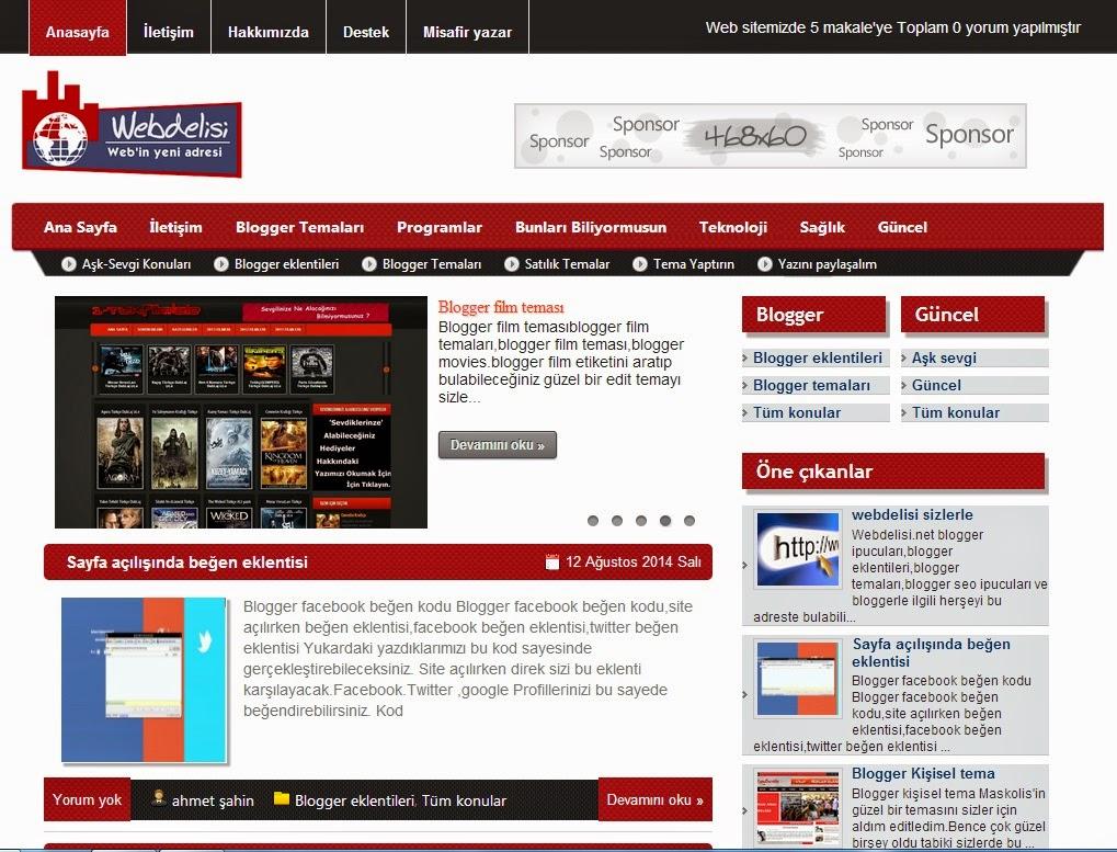 blogger temaları,kişisel blogger teması,blogger seo teması,kişisel blogger temaları,Webdelisi Blogger Teması