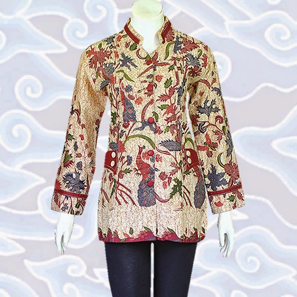model baju blus batik solo modern
