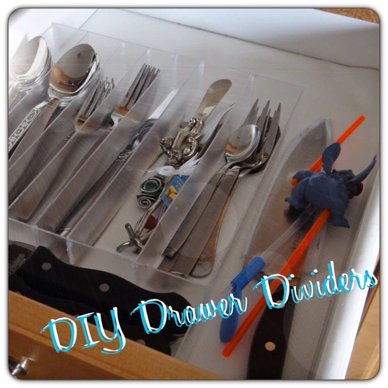 Clear acrylic drawer dividers