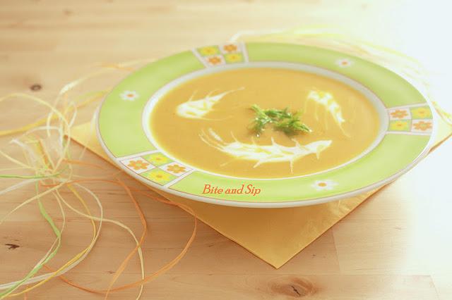 Суп из моркови и фенхеля.