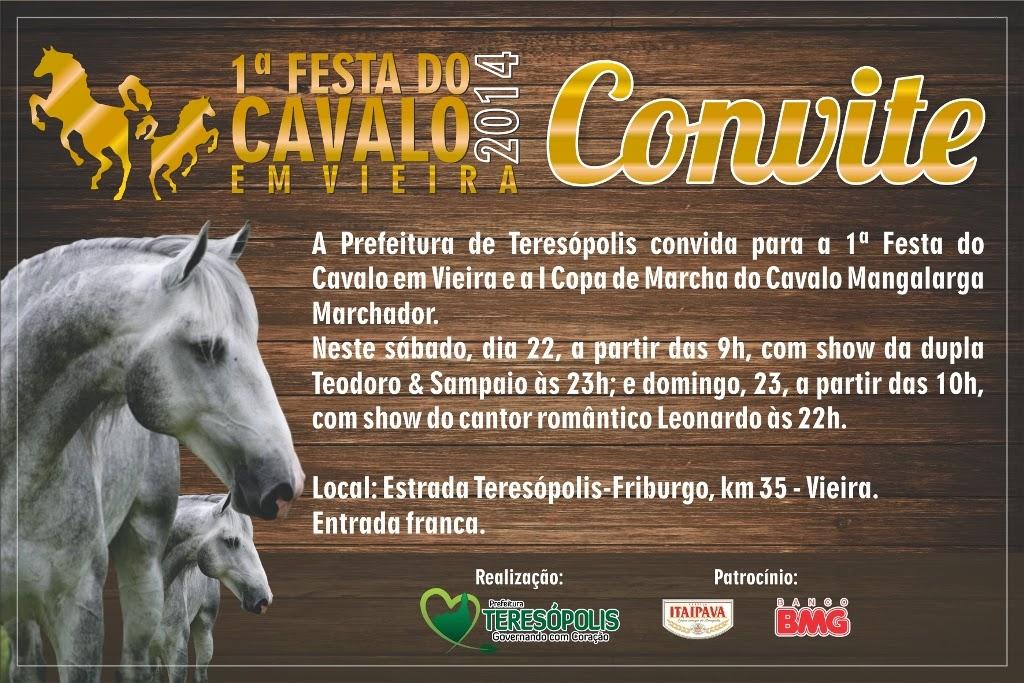 Festa do Cavalo em Teresópolis : I Copa de Marcha Mangalarga Marchador terá cerca de 200 animais competindo