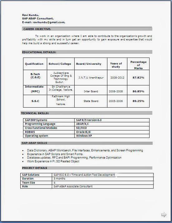 Resume ...  Free Resume Formats