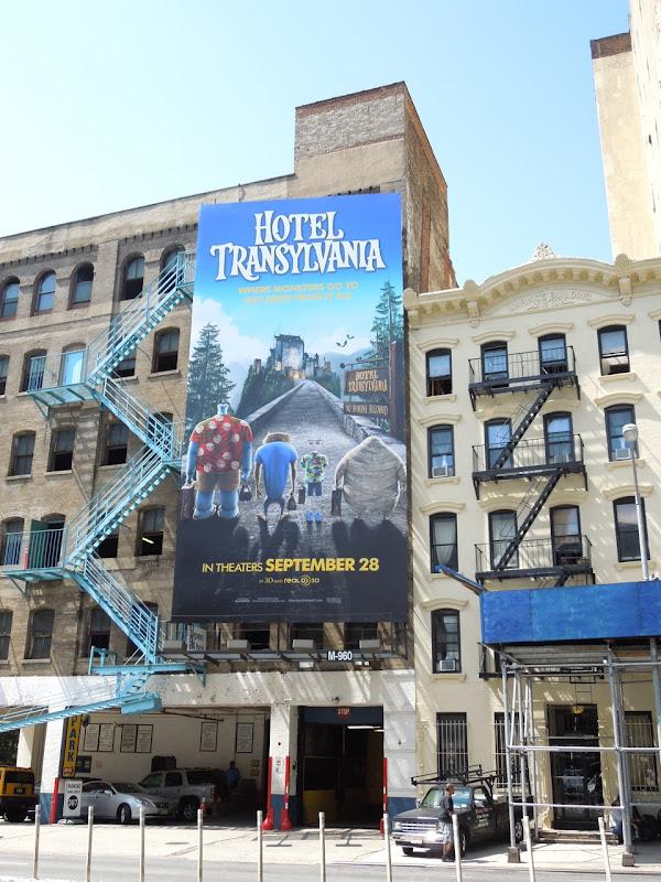 Hotel Transylvania billboard NYC
