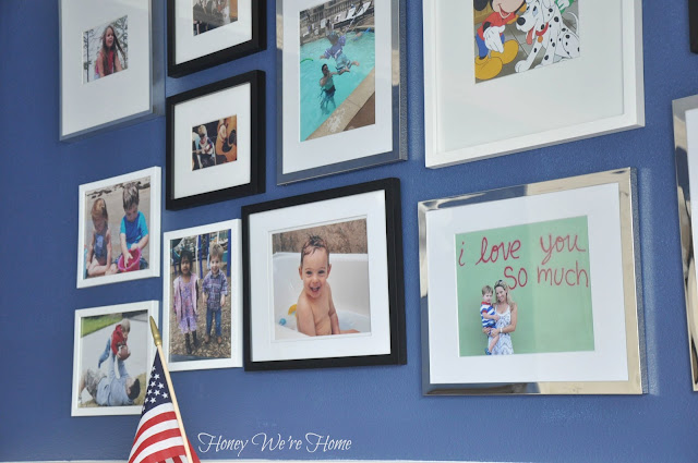 Kid room gallery wall