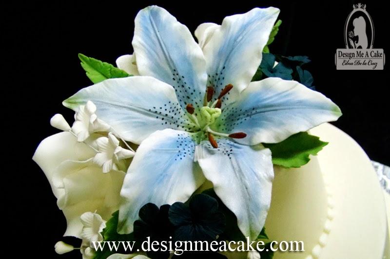 Design me a cake blog 2010 blue gumpaste stargazer lily mightylinksfo