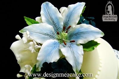 Blue gumpaste Stargazer Lily