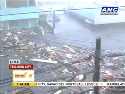 Typhoon Yolanda hits Tacloban City