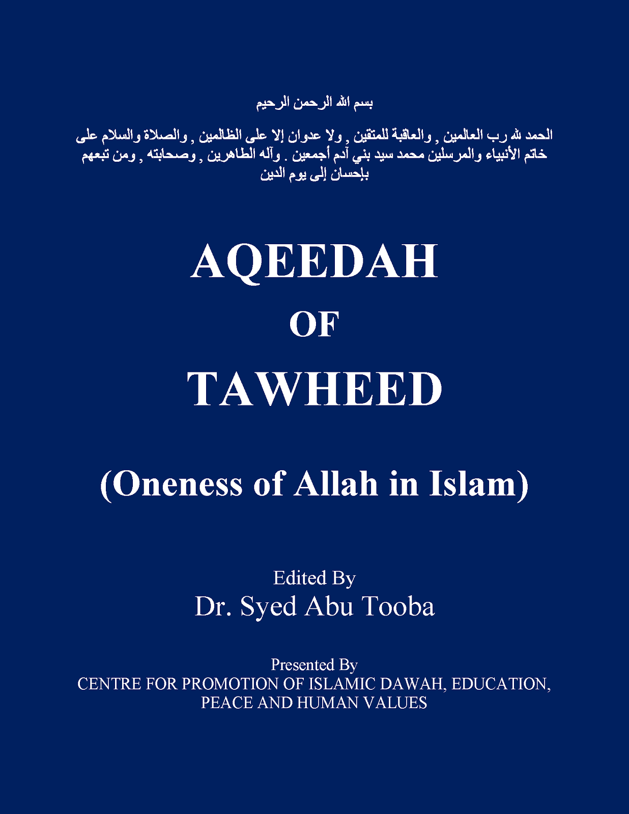 the book of tawheed pdf