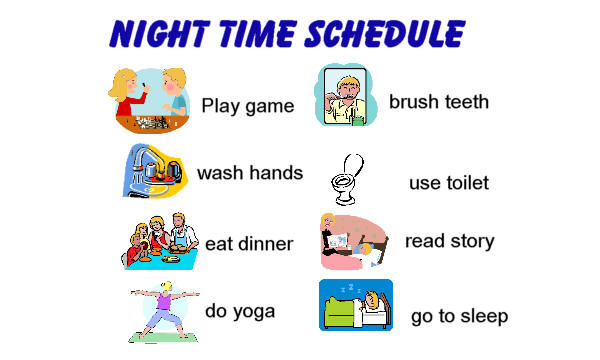 Picture schedules for home