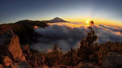 Timelapse awan dan langit di Canary Island