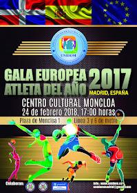 Gala Europea Atleta del Año 2017