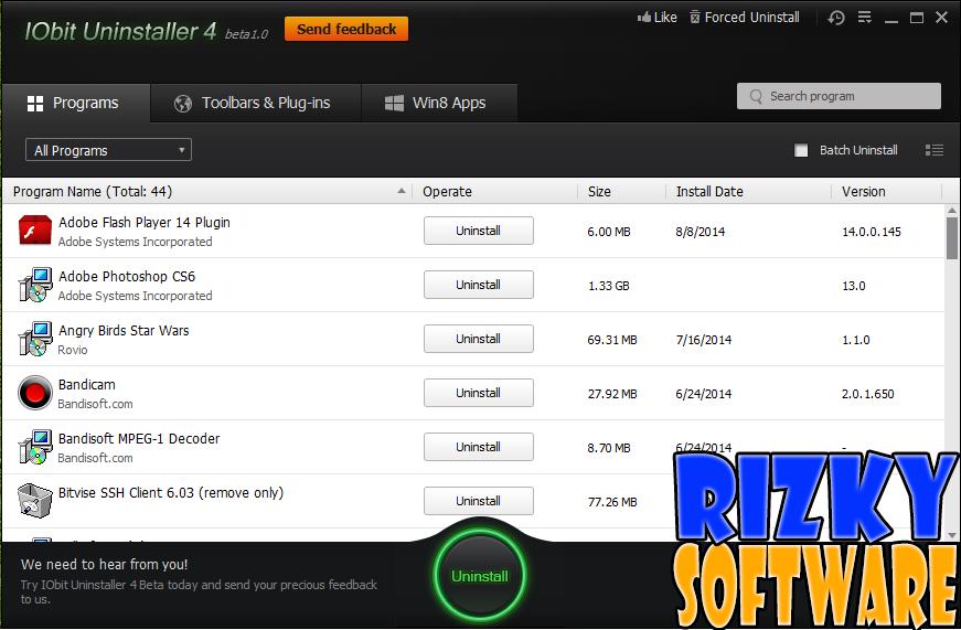 Download Software IObit Uninstaller 4 Free Terbaru Gratis