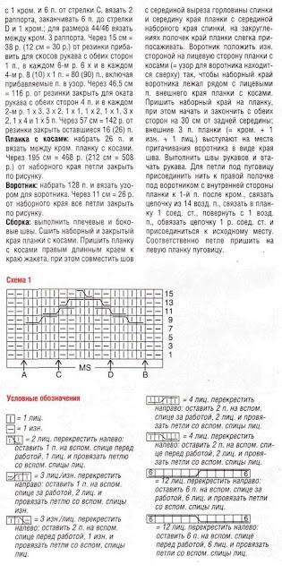 http://www.vyazemsami.ru// Жакет с узором из кос Описание