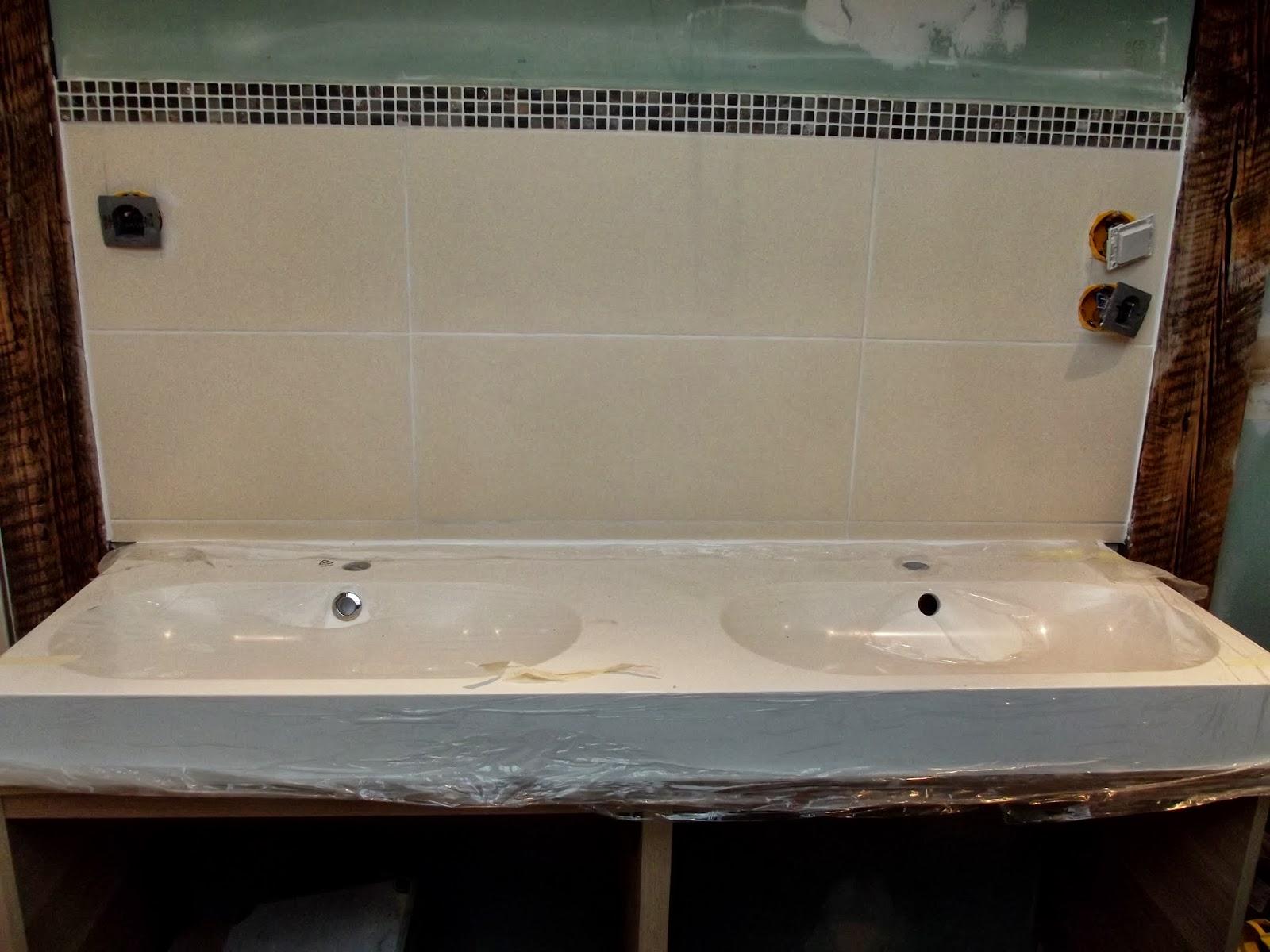Salle de bain bleu turquoise et marron avec haute qualité photos ...