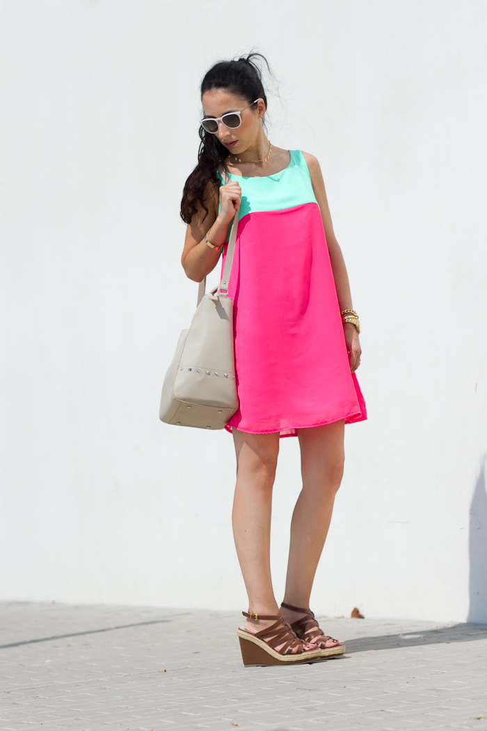 In Love With Fashion TWO-TONED DRESS